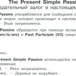 The Present Simple Passive — Страдательный залог в настоящем времени